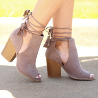 All That's Suede Lace Up Bootie
