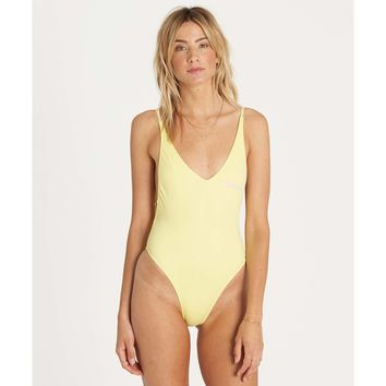 Billabong Woman's Reissue One Piece Swimsuit | Sunkissed Yellow