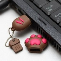 8GB Cute Kitten Cat's PAW High Speed USB 2.0 High Speed Flash Pen Drive Disk Memory Stick Choice of 4GB 8 GIG 8GB 16Gb 32GB Support Windows and Mac OS Shock Proof Great Gift (Ricco 05-017) (8GB BROWN): Amazon.co.uk: Computers & Accessories