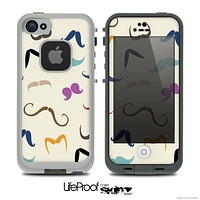The Vintage Mustache Bundle Skin for the iPhone 4 or 5 LifeProof Case