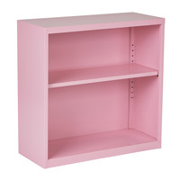 Office Star Metal Bookcase in Pink Finish Ships fully Assembled [HPBC261]