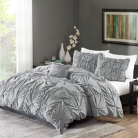 Better Homes and Gardens Twist Pleat Bedding Duvet Cover Set - Walmart.com