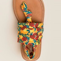 Dirty laundry - babe pineapple stretch sandal