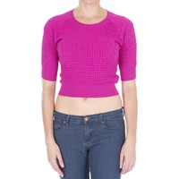 Carven Womens Knit Elbow Sleeves Pullover Sweater