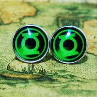 Men Cuff LInks  The Avengers Movie Movie Green by rongrongC