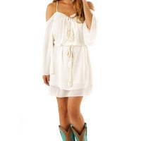 Ride Through The Country Dress: Cream