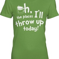 The Places To Throw Up Shirt | St Patricks Day Shirt