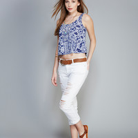 Abstract Print Swing Tank   Wet Seal