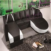 Luxury Cosenza U-Shaped Sectional Sofa with Double Chaise