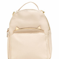 Cat's Meow Mini Faux Leather Backpack