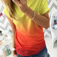 Colorful Ombre Print T-Shirt 11600