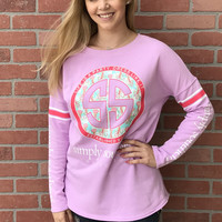 "Simply Southern ""Life is A Party"" Crewneck- Lavender"