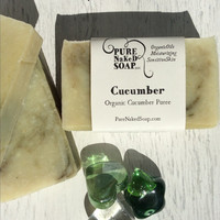 Cucumber soap - organic oil all natural homemade coconut milk soap for dry skin olive oil artisan gently cleanse soothe sensitive pure soap