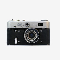 Vintage soviet camera FED 3 collectable camera russian 35mm film camera lens old camera retro photography mid century camera Christmas gifts