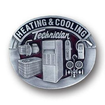 Sports Accessories - Heating & Cooling Technician Enameled Belt Buckle