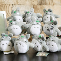 New Arrival Cute Japanese Anime Gray My Neighbor Totoro Plush Keychain Dolls Toys 4'' 10cm 2Styles 10pcs/lot ANPT402