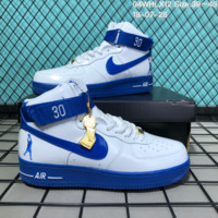 HCXX N175 Nike Air Force 1 High Retro CT16 QS The World Cup Causal Skate Shoes White Blue