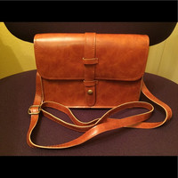 NEW Small Leather Purse Crossbody - Brown
