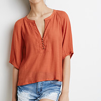 Buttoned Peasant Top