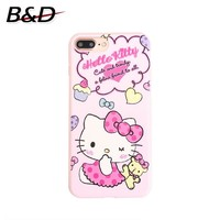 For Iphone X 7 7plus 6 6s Plus 8 8Plus Soft Silicone Phone Cases Cute Lovely Cartoon Hello Kitty Soft Pink Girlish Cases