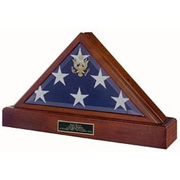 Flag Connections Military Flag case and Pedestal Urn - Cherry