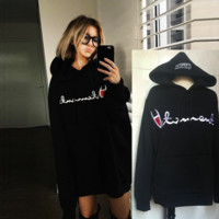 """CHAMPION""Fashion embroidery letter blouse casual sweatwer"