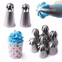 5 styles Russian Flower Cake Decorating Icing Piping Nozzles Pastry Tips Baking Tool DIY