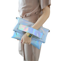 Foldable Silver Evening Clutch Bags Fashion Shoulder Bags High Quality Handbags Lady Envelope Cross Body Bag Holographic-in Clutches from Luggage & Bags on Aliexpress.com   Alibaba Group