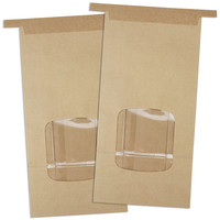 Brown Window Tin Tie Bakery Bags 1lb