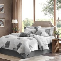 Madison Park Essentials Knowles Complete Bed and Sheet Set - Grey - Queen
