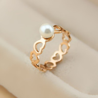 womens pearl rose gold ring gift-118