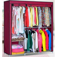 Portable Clothes Storage Rack Closet Wardrobe Ship From USA [8270574785]