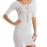 Cross-Back Ribbed Bodycon Dress by Charlotte Russe