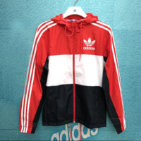 Red Adidas Jacket Outwear