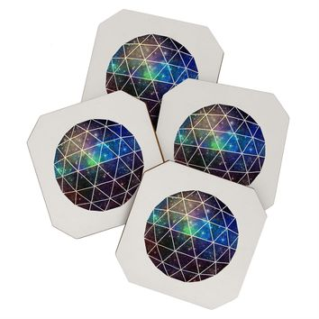 Terry Fan Space Geodesic Coaster Set
