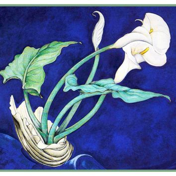 Charles Demuth Begonia Flower Window Counted Cross Stitch Chart Pattern