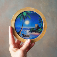 Little Painting on Wood from Costa Rica. Tiki Souvenir