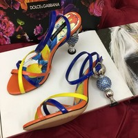 Dolce & Gabbana D&G Women's High Heel Sandals Shoes