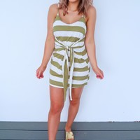 Sunshine Kisses Dress: Olive/Ivory