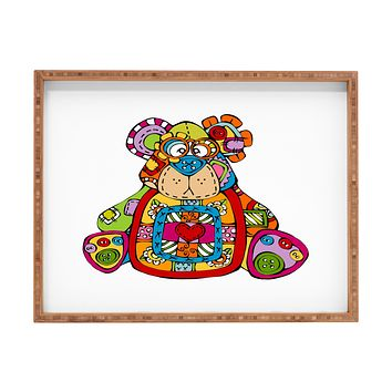 Angry Squirrel Studio BEAR Button Nose Buddies Rectangular Tray