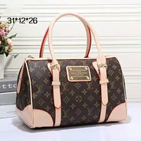LV Women Shopping Bag Leather Tote Handbag Shoulder Bag mieniwe?
