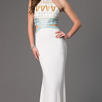 High Neck Mock Two Piece Dave and Johnny Dress