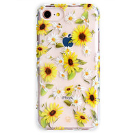 Sunflower Daisy Clear iPhone Case