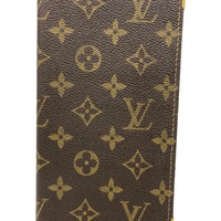 louis Vuitton checkbook cover monogram wallet (Vintage) US seller