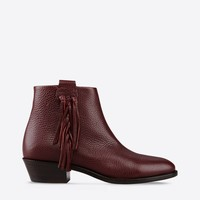 Valentino Online Boutique - Valentino Women Ankle Boot With Fringe