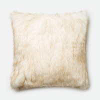 Loloi Ivory / Camel Decorative Throw Pillow (P0270)