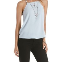 Racer Front Strappy Tank Top by Charlotte Russe