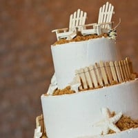 Adirondack Chair Wedding Cake Toppers - Not Fencing - Contact Me With Your Order