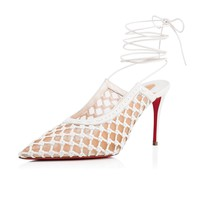 Christian Louboutin Cl Cage And Curry Latte Leather 18s Bridal 1181175wha8