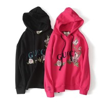 Gucci Women Embroidery Hot Hoodie Cute Sweater-3